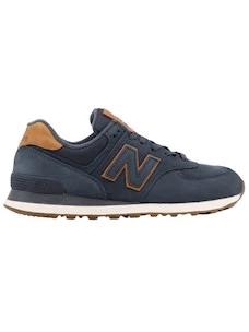 New Balance ML574NBD men's blue nubuck sneakers