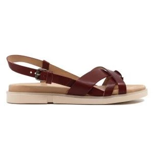 Mjus P07007 women's sandal in brule red leather
