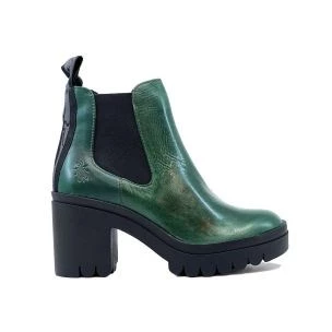 FLY LONDON TOPE520FLY WOMEN'S BOOT IN GREEN LEATHER