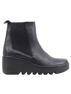 Fly London Bagu33 Women's ankle boot in black leather