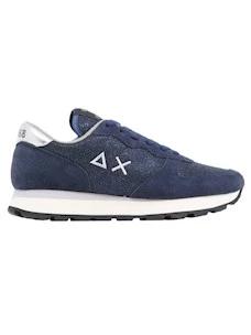 Sun68 Z41203 women's sneaker in blue with glitter